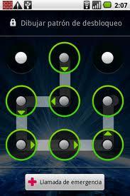 patrón de desbloqueo de un smartphone