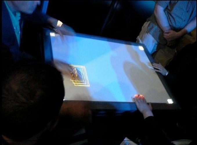pantalla táctil que reconoce huellas digitales