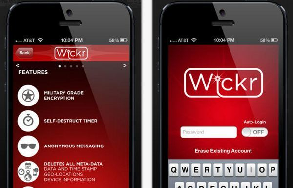 wickr autodestruirse