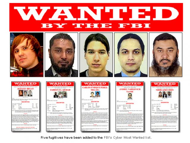 los mas buscados por el fbi: