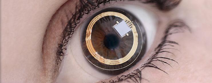 google lente de contacto