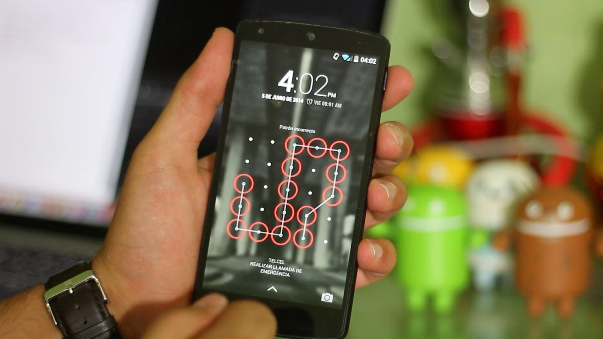 Cuidado patrones bloqueo de pantalla en celulares no son ...