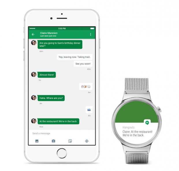android wear en iphone