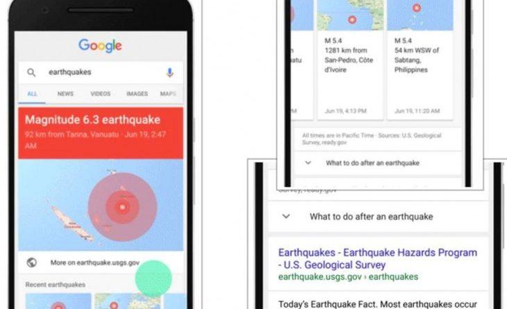 google sismo