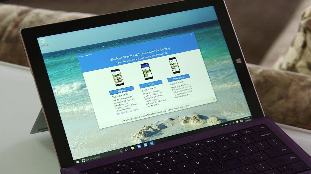 Nueva Aplicación de Windows 10 sincroniza cualquier celular